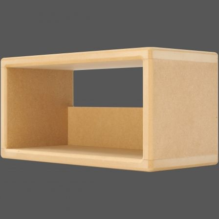 I-CUBE CD35 CD Storage Unit Box - MDF Wood