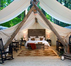 For a weekend getaway, Pampered Wilderness in Olympia, WA (luxury camping)
