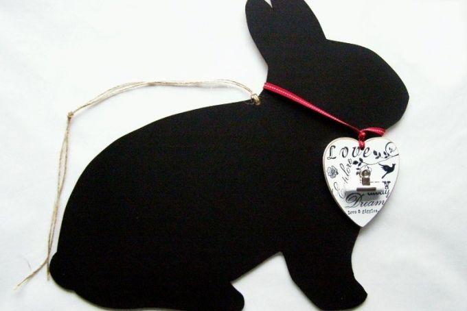 Rabbit Chalkboard by Pelo Design