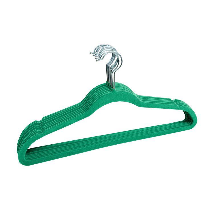 Sunbeam Velvet Slim Hangers 120 pack Turquoise (FH01145-120)