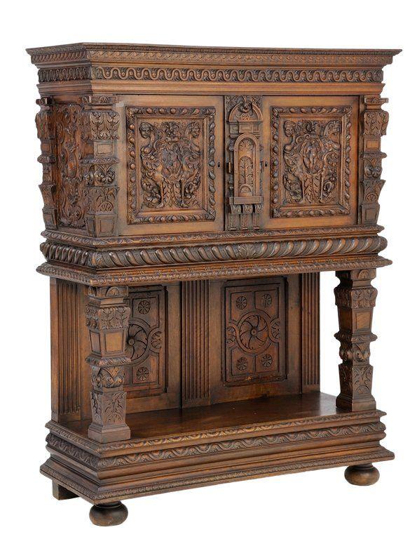 A French Renaissance Revival Credence Cabinet Lot 32 Antique Furnitures Pinterest