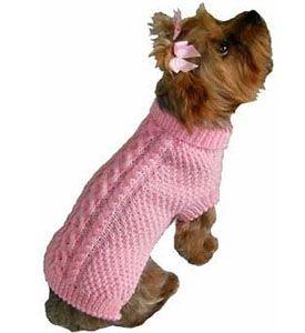 Free Knitting Pattern kff-dogSweater Furry Dog Sweater