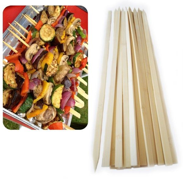 Buy Barbeque Bamboo Skewers Sticks for Grill. Easy to use and hold for Meat, Veggies, & Fruits. Stick available in party pack.