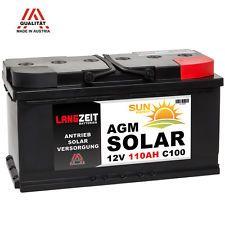 Solarbatterie 12V 110AH AGM GEL Batterie Solar Versorgungsbatterie Boot 100Ah