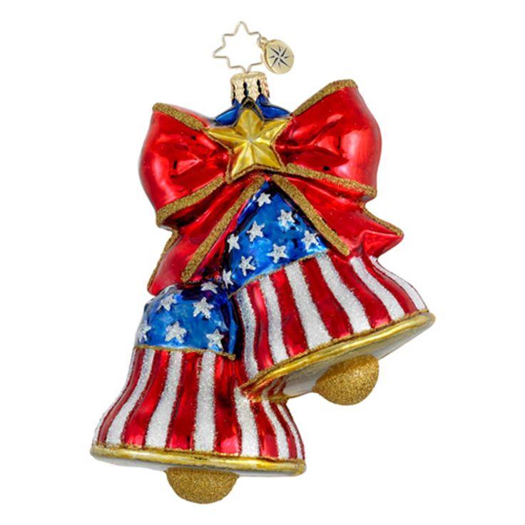 United States Christmas Ornaments Part - 40: Radko Ornaments Patriotic USA Christmas Ornament Let Freedom Ring