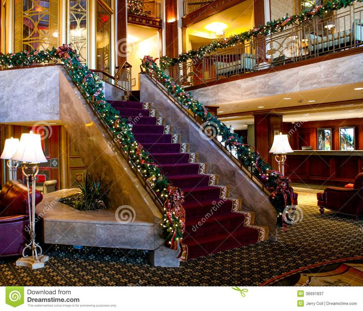 Christmas Time At The Biltmore Hotel, Providence, RI Editorial ...