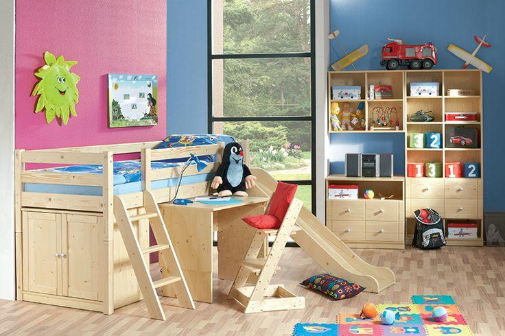 Kalimero Dětský pokoj ze smrkového dřeva