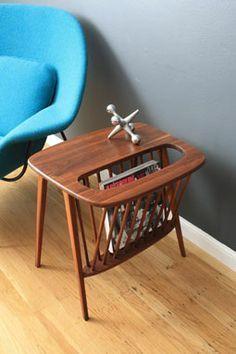 Vintage Mid Century Magazine Side Table By Arthur Umanoff Home Design Ideas