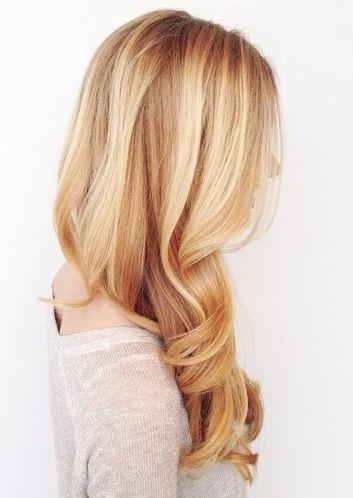 Beautiful shade of blonde hair