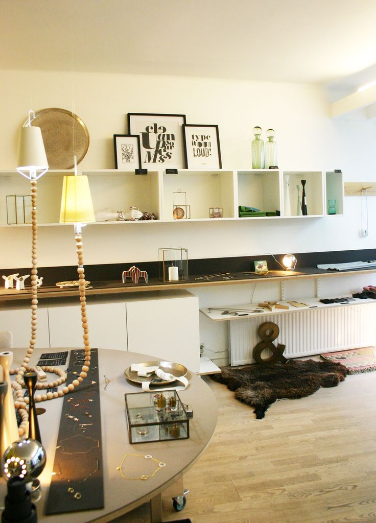 Interior objects mostly from House Doctor. Jewelry by Danish Pendulum. Rosary Lamps by Swedish Boris Design Studio.