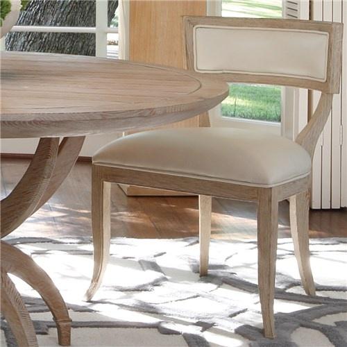 Global Views Klismos Beige Leather Chair