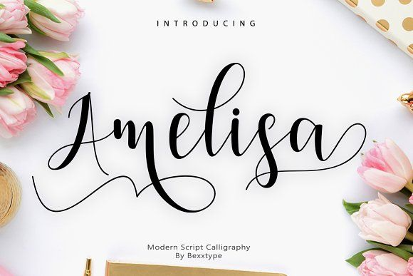 Amelisa Script by Bexxtype on @creativemarket