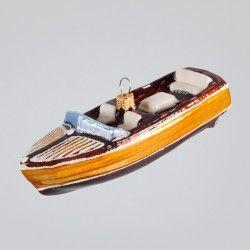 Christbaumkugel, Sportboot, 3 x 12 cm