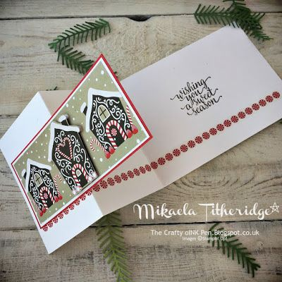 Mikaela Titheridge, The Crafty oINK Pen: Simple Candy Cane Christmas Card Idea for Stamp-a-Stack. Regular events available and supplies through my online store.
