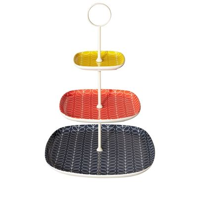 Cool Orla Kiely Cake Stands in store at Contemporary Pieces.  On sale now.  A great gift for the entertainer with style!!!