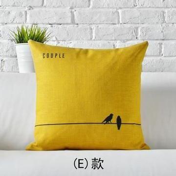 Love Decorative Pillow Heart Home Decor Cushion Linen Cotton Throw Pillow
