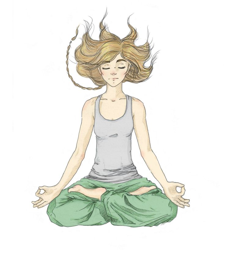 #meditation #yoga #inner #peace #silence #lifestyle  #gryzmoU #squiggle #illustration