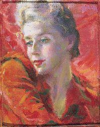 Giacomo Balla - Luci di corallo, ritratto di Elica Balla