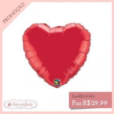 Balão Metalizado Coração (Pacote com 5 unidades)