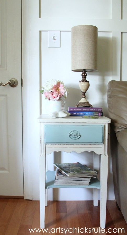 Lamp makeover with chalk paint after styled artsychicksrule com