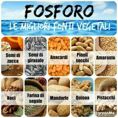 Le migliori fonti #vegetali di #fosforo.  Fonte: www.facebook.com/dietapersonalizzata