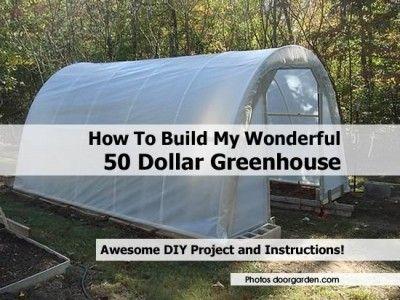 How To Build My Wonderful 50 Dollar Greenhouse