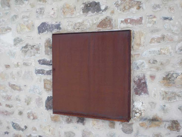 Contraventana de ventana en acero cort n www - Acero corten ...