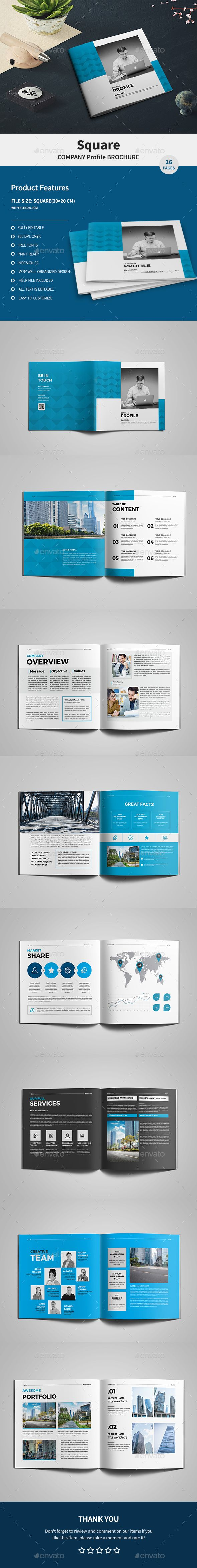 Square Company Profile Brochure - Corporate #Brochures Download here: https://graphicriver.net/item/square-company-profile-brochure/19956341?ref=alena994