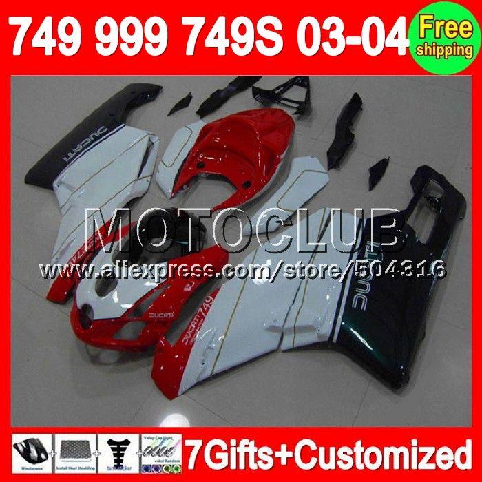 Красный зеленый 7 подарки + для DUCATI 749 - 999 03 - 04 749 S 999 S 749R 749 999 6C31 999R 749 2004 2003 - 2004 03 04 2003 зализа красный белый