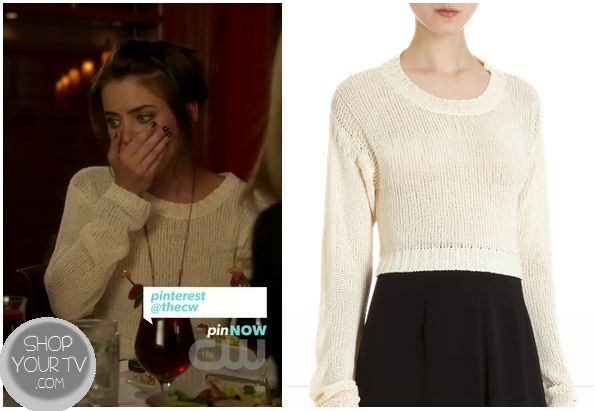 Shop Your Tv: 90210: Season 5 Episode 4 Silver's White Knit Sweater