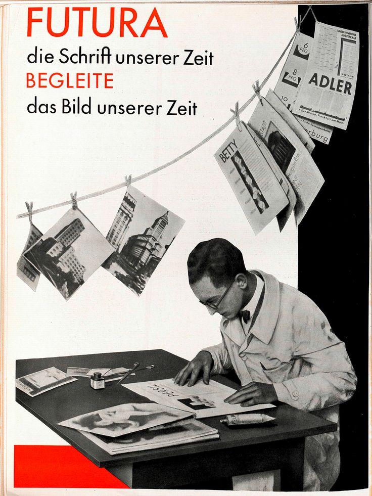 """Beilage """"Für Fotomontage – Futura"""" S. 4 Gebrauchsgraphik, Jhg. 6, Heft 3 (März), 1929, S. 49–52"""