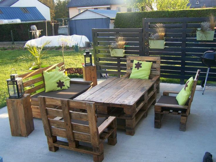Idee reciclare paleti - mobilier