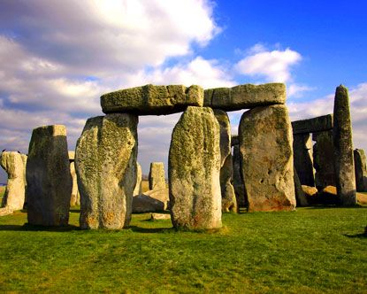 The ancient magnificent stone circle of Stonehenge, in southwest England, north of Salisbury.  Has been standing since about 2500-3000 B.C.!