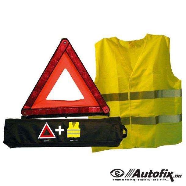 Advarselstrekant og vest til bilen