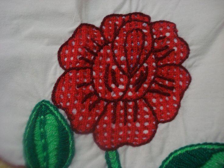 Bordado Fantasia Rosa