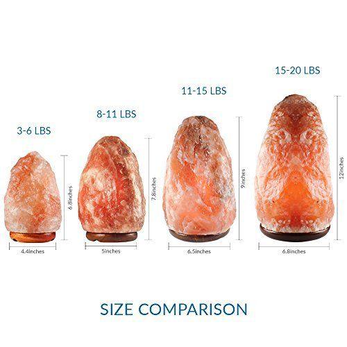 SALT GEMS Natural Himalayan Salt Lamp (8 11 Lbs) Air Purifier   Hand