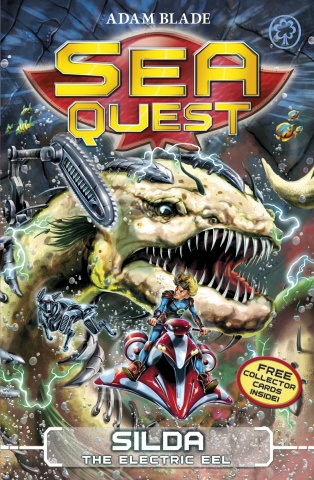 Deep in the water lurks a new breed of Beast.    The Robobeasts threatens the planet Nemos! Max and his new companion, Lia, plunge deeper into the depths on their mission to save his dad. But will Max survive the dangers that hide in the shadows And can he defeat the shocking power of Silda the Electric Eel     Dive into Sea Quest and live the adventure!