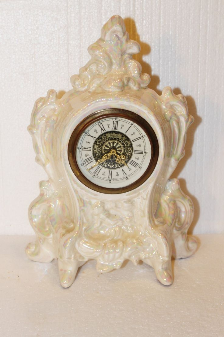 Antique Luster Ware Norco Clock West Germany Wind Up