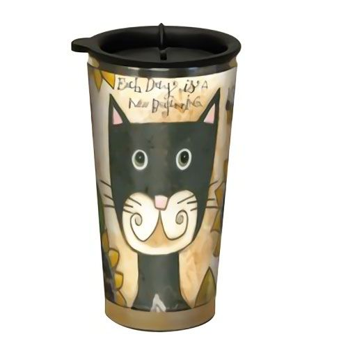 Black Cat Design Acrylic Stainless Steel Double Walled Travel Mug....$18.95