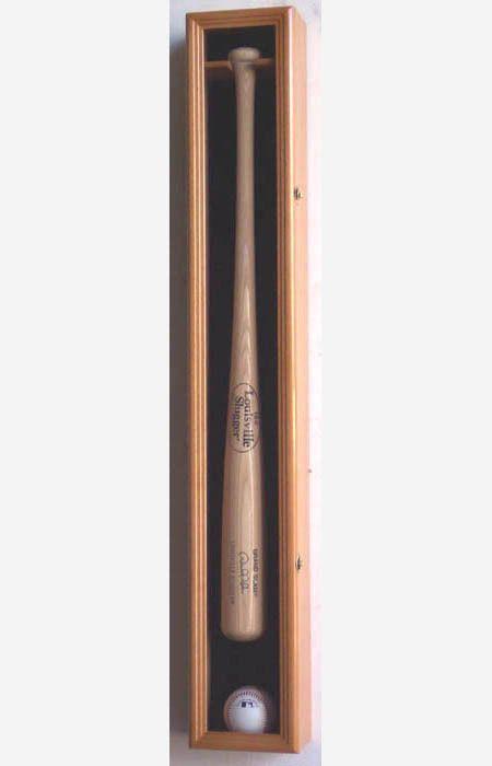 1 Baseball Bat Display Case Cabinet Wall Rack Holder UV