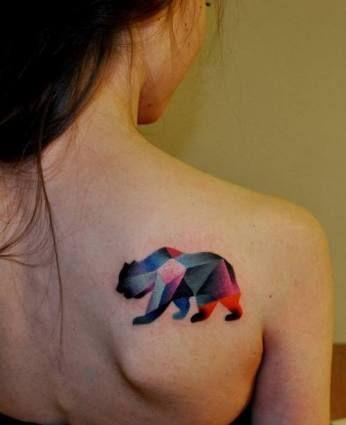 geometric bear tattoo - Google Search                                                                                                                                                                                 More
