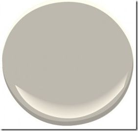 Thunder (AF-685) by Benjamin Moore I chose this for a client at a recent colour consultation expecting it to be a greige. Once the painter was finished I realized that this is probably the perfect, elusive gray that we are all looking for. There are no obvious undertones that take over as there normally are with gray. It's deceiving on the chip though because it looks more greige than gray. (per designer not me)
