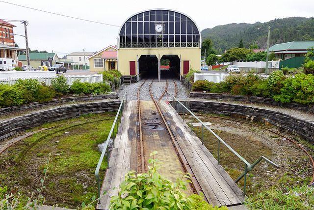The Railway Turntable, Queenstown. #queenstown #tasmania #westcoast…