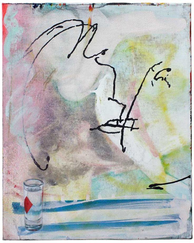 -macondo- Öl auf Nessel, 50 x 40 cm, 2017 Endy Hupperich