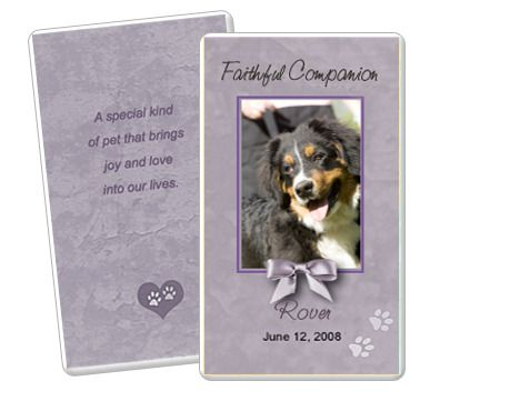 Grey Pet Memorial Flat Card Templates. Edit In Microsoft Word, Publisher,  Apple IWork  Memorial Card Template Word