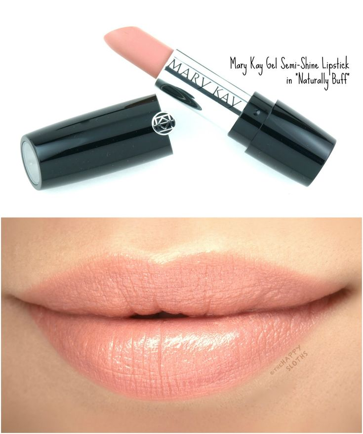 """Mary Kay Gel Semi-Shine Lipstick in """"Naturally Buff"""": Review and Swatches"""