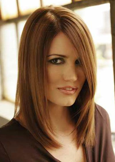 haircolors | Medium Length Hairstyles for Auburn Hair Color | Mid Length Hair ...