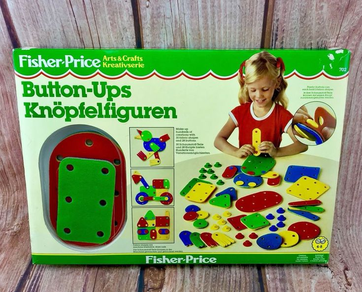 1980's Vintage Fisher Price Button-Ups Arts & Crafts Game New In Box create toy