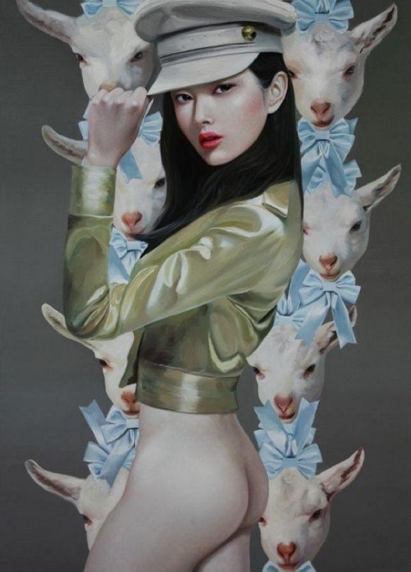 The modern artist Ling Jian Paintings