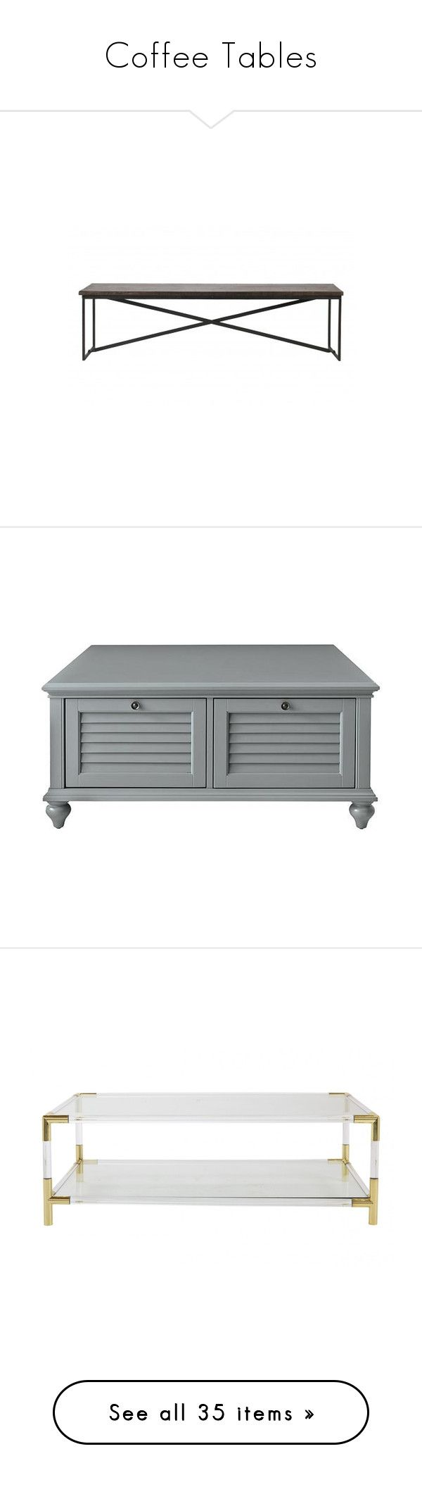 """""""Coffee Tables"""" by amazing-yessi on Polyvore featuring home, furniture, benches, hand made furniture, jayson home, salvage furniture, salvaged wood furniture, patchwork furniture, tables and accent tables"""
